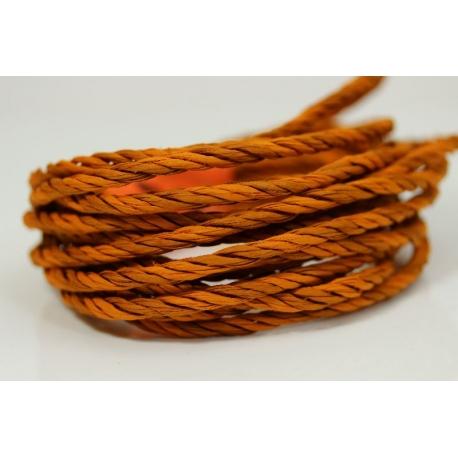 """Papiergaren """"Twee kleuren"""" 5 meter - oranje (031)"""