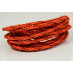 """Papiergaren """"Twee kleuren"""" 5 meter - hard oranje (030)"""