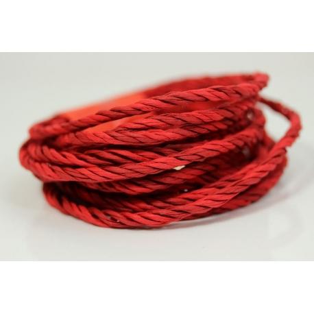 """Papiergaren """"Twee kleuren"""" 5 meter - rood (022)"""