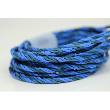 """Papiergaren """"Twee kleuren"""" 5 meter - blauw (026)"""