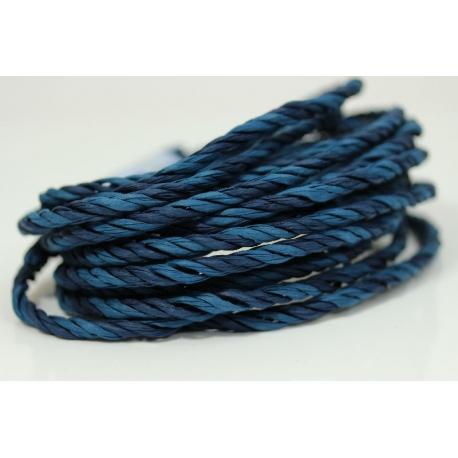 """Papiergaren """"Twee kleuren"""" 5 meter - donker blauw (021)"""
