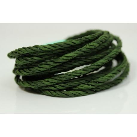"""Papiergaren """"Twee kleuren"""" 5 meter - donker groen (023)"""