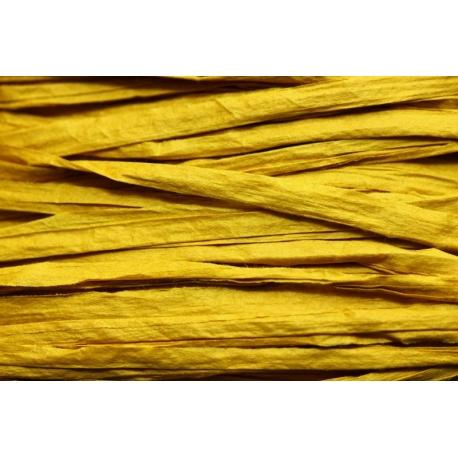 Papierband 15 meter - maïsgeel (112)