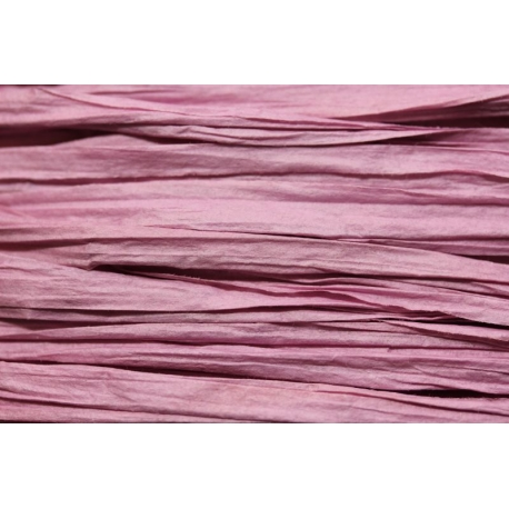 Papierband 15 meter - oud roze (028)