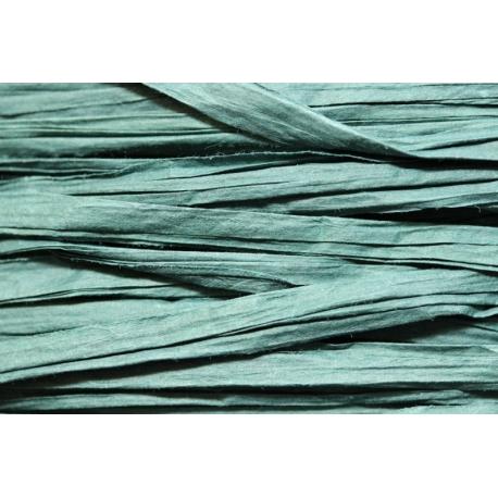 Papierband 15 meter - donker blauw/groen (029)