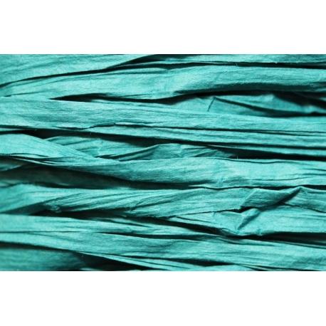 Papierband 15 meter - blauw/groen (120)