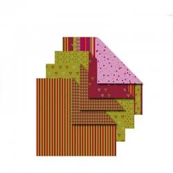 Helsinki, vouwpapier 10x10 cm (tweezijdig)