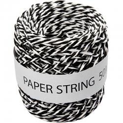 Papierkoord - zwart / wit