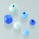 Houten kralen mix - blauw