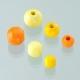 Houten kralen mix - geel