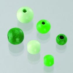 Houten kralen mix - groen