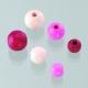 Houten kralen mix - roze