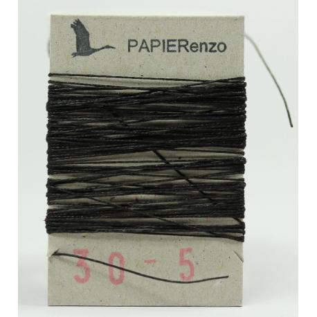 linnen draad No. 30/3 -zwart (5 meter)
