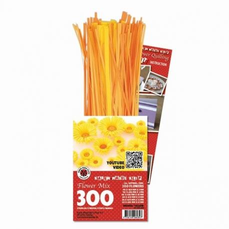 3D Bloemen Quilling pakket - luxe - oranje/geel
