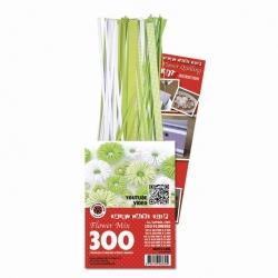 3D Bloemen Quilling pakket - luxe - lime/wit