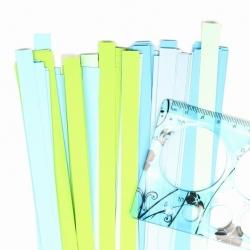 Filigraan papier groen/blauw - 10 mm