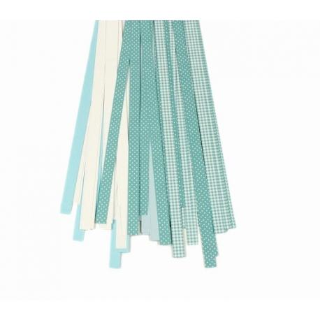 Filigraan papier turquoise/blauw/wit - 10 mm