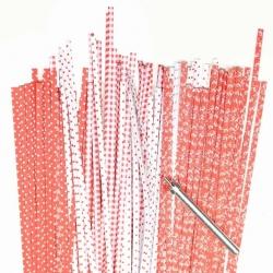 Filigraan papier rood/wit - 3 mm