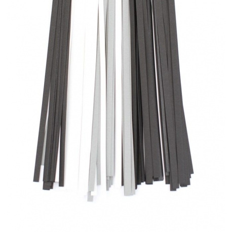 Filigraan papier zwart/wit/grijs - 10 mm