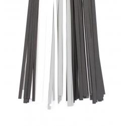 Filigraan papier zwart/wit/grijs - 15 mm