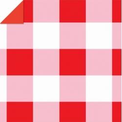 Origami papier 15x15 cm - dubbelzijdig rood/wit