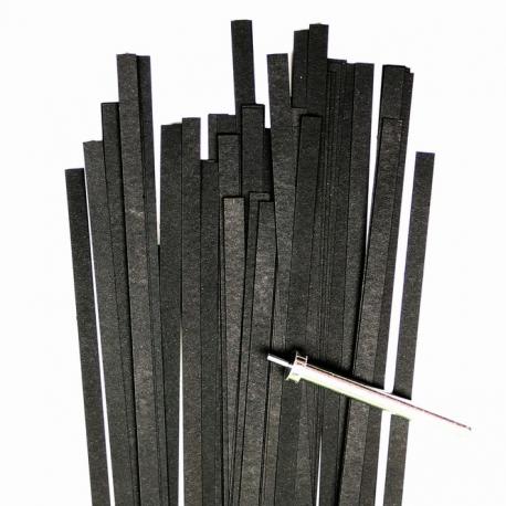 Filigraan papier - 5 mm - zwart