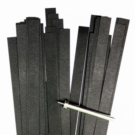 Filigraan papier - 10 mm - zwart