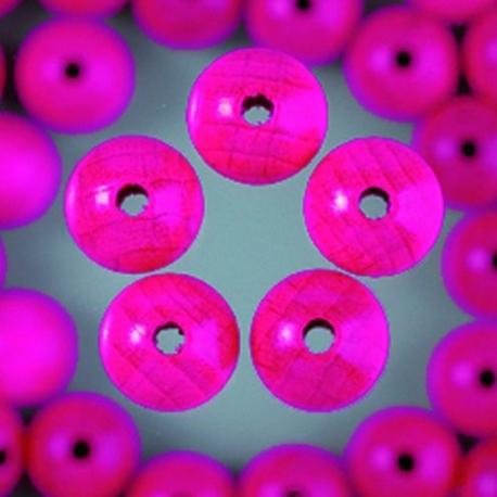 Houten kralen - roze 4 mm