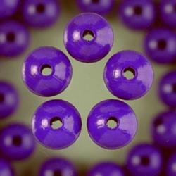Houten kralen - paars 4 mm
