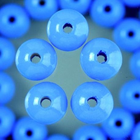 Houten kralen - licht blauw 4 mm