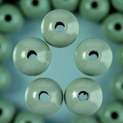Houten kralen - grijs 4 mm