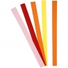 Vlechtstroken rood, roze, oranje, geel - 15 mm