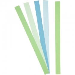 Vlechtstroken blauw groen - 15 mm