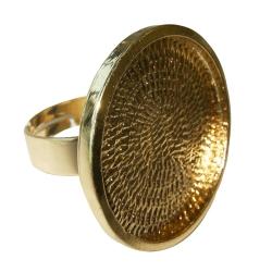 Ring rond vlak voor cabochon 24mm - goud