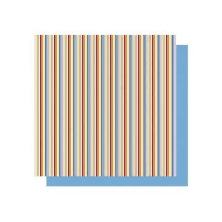 Origami papier 15x15 cm - dubbelzijdig strepen (geel tinten)
