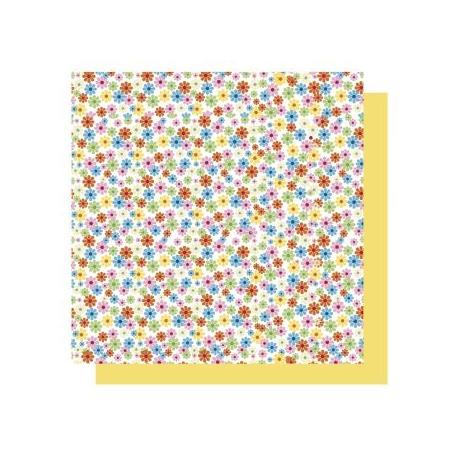 Origami papier 15x15 cm - dubbelzijdig bloemen (geel tinten)