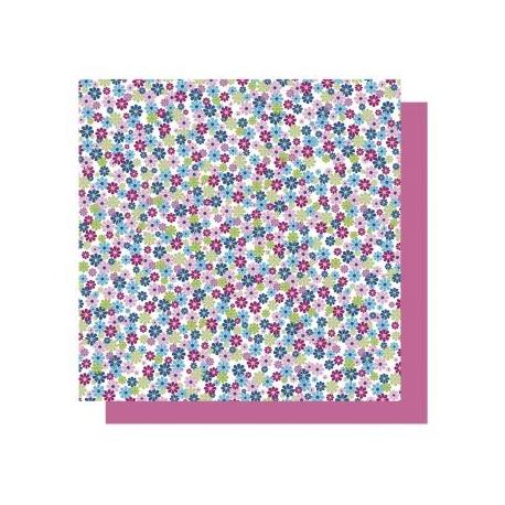 Origami papier 15x15 cm - dubbelzijdig bloemen (blauw tinten)