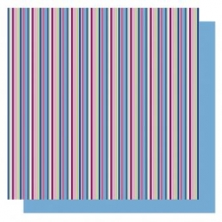 Origami papier 15x15 cm - dubbelzijdig strepen (blauw tinten)