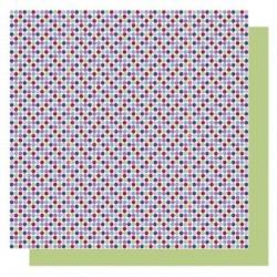 Origami papier 15x15 cm - dubbelzijdig stippen (blauw tinten)