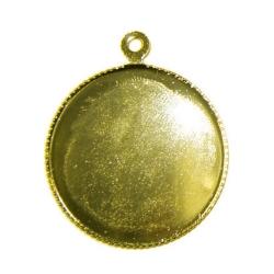 Ronde hanger 24mm - goud