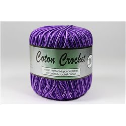 Cotton Crochet - paars multicolor