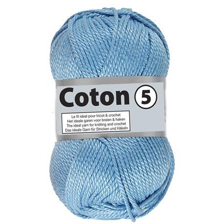 Coton 5 - licht blauw (011)
