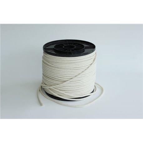 Gevlochten katoentouw - 5 mm - 1 meter touw