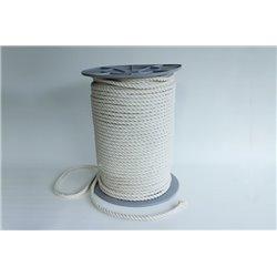 Geslagen katoentouw - 10 mm - 1 meter