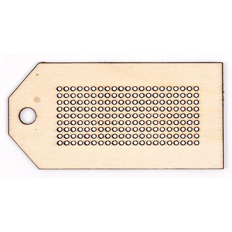 Houten hanger - Label