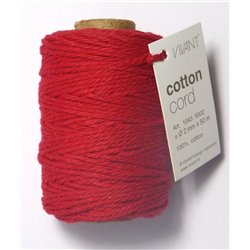 Cotton cord - Rood