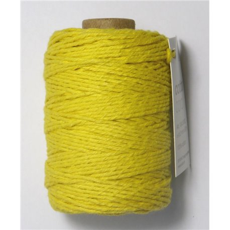 Cotton cord - Geel