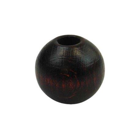 Houten kralen - gelakt - 20 mm