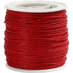 Gewaxt katoen - rood