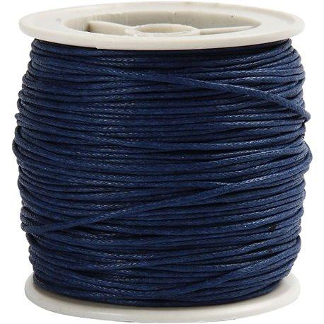Gewaxt katoen - blauw